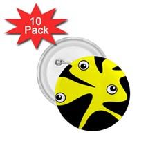Yellow amoeba 1.75  Buttons (10 pack)