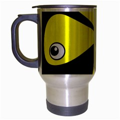 Yellow amoeba Travel Mug (Silver Gray)