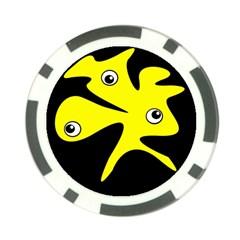 Yellow amoeba Poker Chip Card Guards