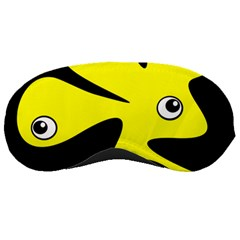 Yellow amoeba Sleeping Masks
