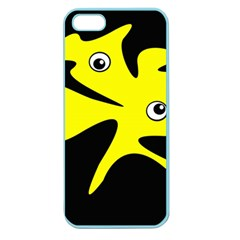 Yellow amoeba Apple Seamless iPhone 5 Case (Color)