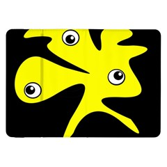 Yellow amoeba Samsung Galaxy Tab 8.9  P7300 Flip Case