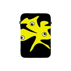 Yellow amoeba Apple iPad Mini Protective Soft Cases
