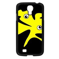 Yellow amoeba Samsung Galaxy S4 I9500/ I9505 Case (Black)