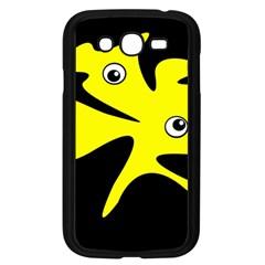 Yellow amoeba Samsung Galaxy Grand DUOS I9082 Case (Black)