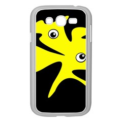 Yellow amoeba Samsung Galaxy Grand DUOS I9082 Case (White)