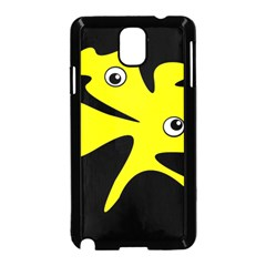 Yellow Amoeba Samsung Galaxy Note 3 Neo Hardshell Case (black)