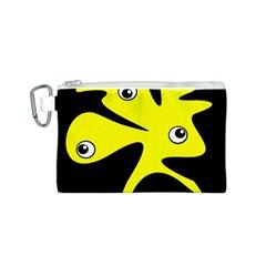 Yellow amoeba Canvas Cosmetic Bag (S)