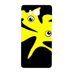 Yellow amoeba Samsung Galaxy Alpha Hardshell Back Case