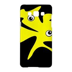 Yellow amoeba Samsung Galaxy A5 Hardshell Case
