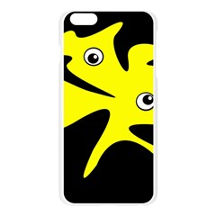 Yellow amoeba Apple Seamless iPhone 6 Plus/6S Plus Case (Transparent)