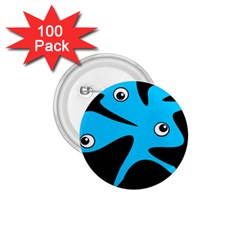 Blue amoeba 1.75  Buttons (100 pack)