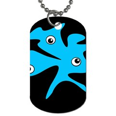 Blue amoeba Dog Tag (Two Sides)