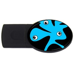 Blue amoeba USB Flash Drive Oval (1 GB)