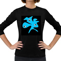 Blue amoeba Women s Long Sleeve Dark T-Shirts