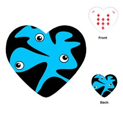 Blue amoeba Playing Cards (Heart)