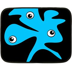 Blue amoeba Double Sided Fleece Blanket (Mini)
