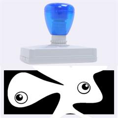 Blue amoeba Rubber Address Stamps (XL)