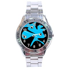 Blue amoeba Stainless Steel Analogue Watch