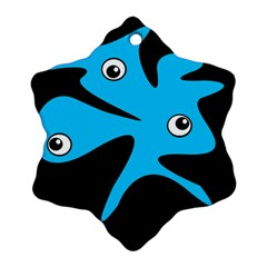 Blue amoeba Ornament (Snowflake)