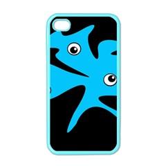 Blue amoeba Apple iPhone 4 Case (Color)