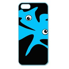Blue amoeba Apple Seamless iPhone 5 Case (Color)