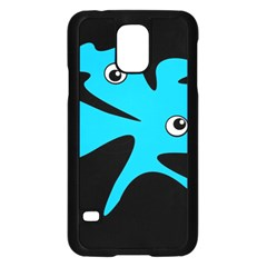 Blue amoeba Samsung Galaxy S5 Case (Black)