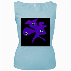 Purple amoeba Women s Baby Blue Tank Top
