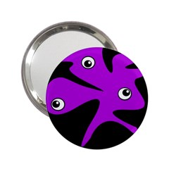 Purple amoeba 2.25  Handbag Mirrors