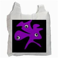 Purple amoeba Recycle Bag (Two Side)