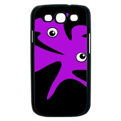 Purple amoeba Samsung Galaxy S III Case (Black)
