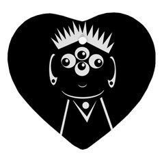 Black and white voodoo man Ornament (Heart)