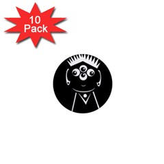 Black and white voodoo man 1  Mini Magnet (10 pack)