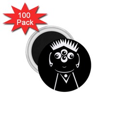 Black and white voodoo man 1.75  Magnets (100 pack)