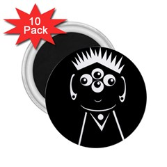 Black and white voodoo man 2.25  Magnets (10 pack)
