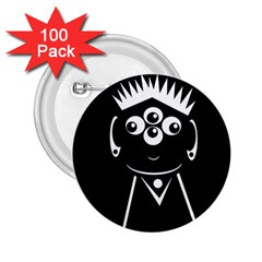 Black and white voodoo man 2.25  Buttons (100 pack)