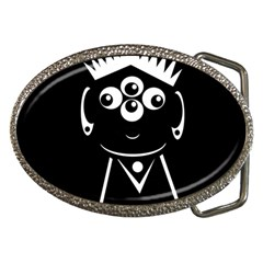 Black and white voodoo man Belt Buckles