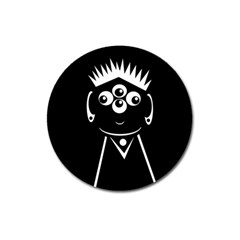Black and white voodoo man Magnet 3  (Round)