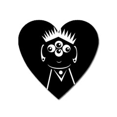 Black and white voodoo man Heart Magnet