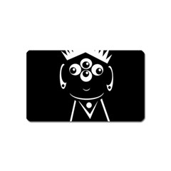 Black And White Voodoo Man Magnet (name Card)