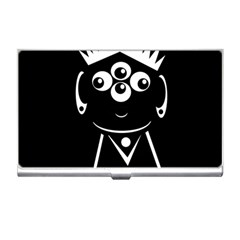 Black and white voodoo man Business Card Holders
