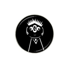 Black and white voodoo man Hat Clip Ball Marker (10 pack)