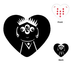 Black and white voodoo man Playing Cards (Heart)