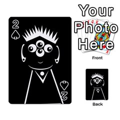 Black and white voodoo man Playing Cards 54 Designs