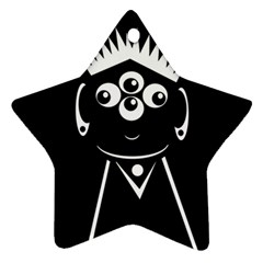 Black and white voodoo man Star Ornament (Two Sides)