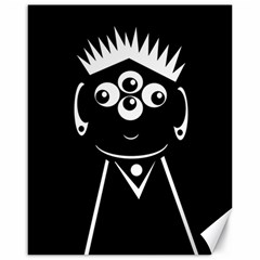 Black and white voodoo man Canvas 16  x 20