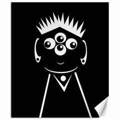 Black and white voodoo man Canvas 20  x 24