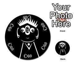 Black and white voodoo man Playing Cards 54 (Round)