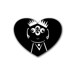 Black and white voodoo man Heart Coaster (4 pack)