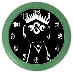 Black and white voodoo man Color Wall Clocks